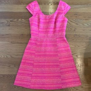 Lily Pulitzer Hot Pink Tweed Dress